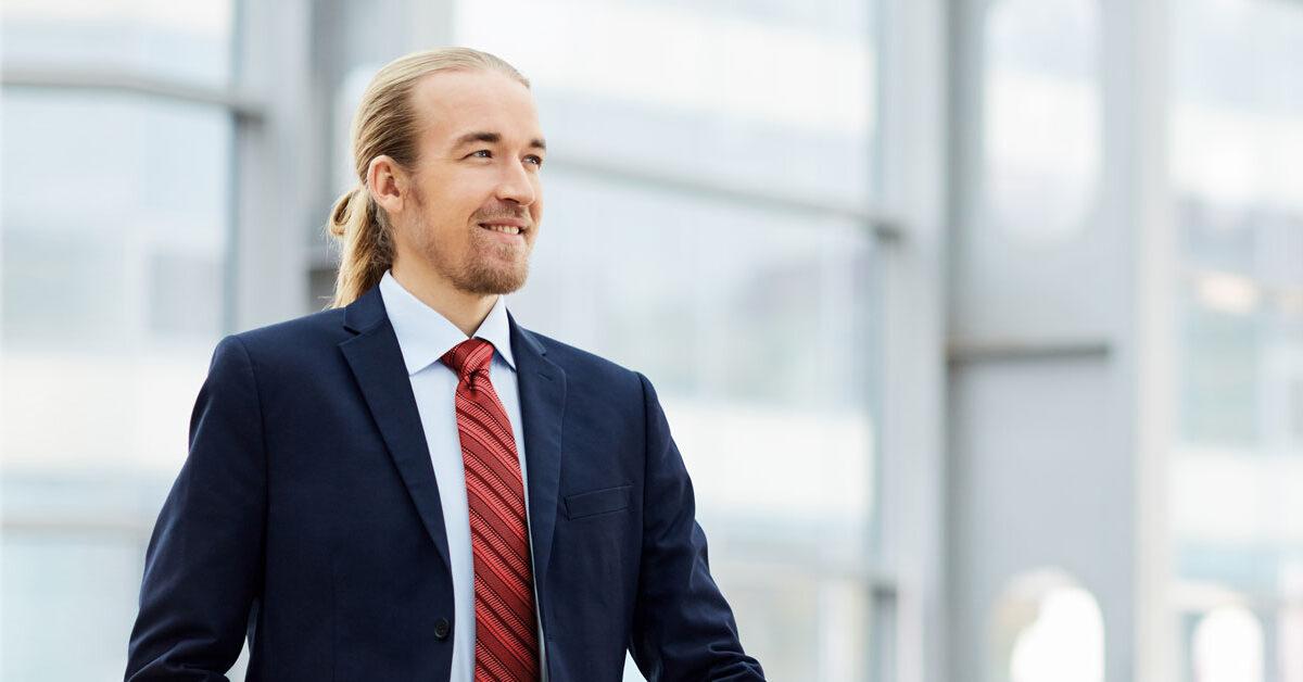Businessman, smiling